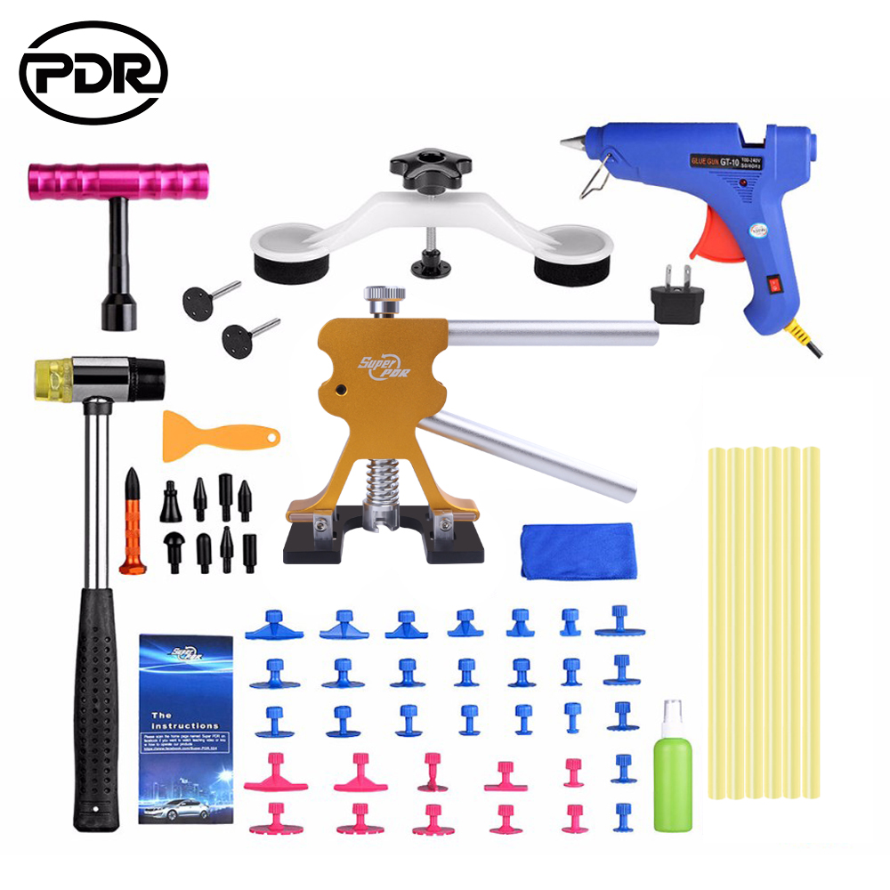 PDR Tools Vehicle Dents Repair Repairing Car Body Dents Tool Best Car Dent Repair Tools Puller Suction Cups Glue Gun