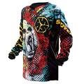 De scoyco t119 camisas tops motocicleta midnight motocross jersey/mx mtb atv moto moto jersey t-shirt ropa jaqueta motoqueiro