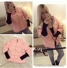 Womens Winter Jackets Slim Thick And Coats Top Fashion No Zipper 2017 Europe The In New Coat Solid Color Jacket Warm Cotton