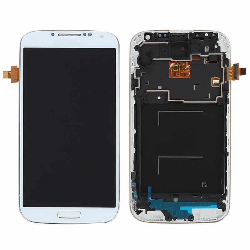 I9505 شاشات lcd لسامسونج غالاكسي S4 i9505 شاشة الكريستال السائل محول الأرقام بشاشة تعمل بلمس الإطار استبدال أجزاء لسامسونج S4 i9505 عرض