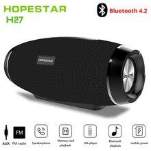 Hopestar wireless column bluetooth speaker stereo bass Subwoofer computer2.1 sound box waterproof FM radio USB Mp3 music boombox