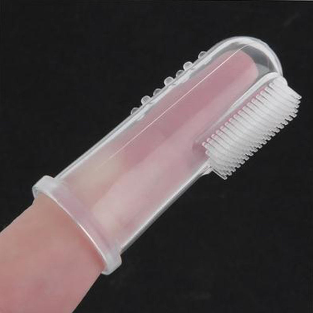 1 Pcs Silicone Baby Finger Toothbrush Brush Soft Baby Tongue Cleaning Brush Massage Gums Promote The Growth Of Teeth Oral Care
