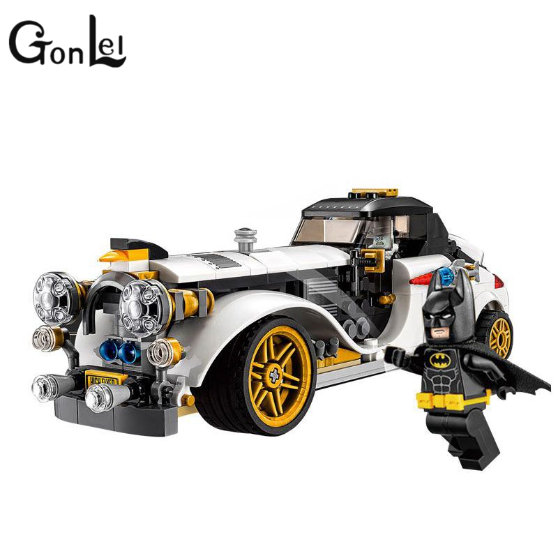 GonLeI SY872 Marvel Super Heroes Batman Movie The Arctic War Penguin Classic Car Building Blocks Bricks Toys with 07047 moc 1128pcs the batman movie bane s nuclear boom truck super heroes building blocks bricks kids toys gifts not include minifig