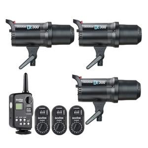 Image 3 - Godox DE300 300 Wát Nhỏ Gọn Studio Flash Light Strobe Chiếu Sáng Đèn Head Máy Ảnh Flash Monolight FT Transmitter FTR 16 Receiver