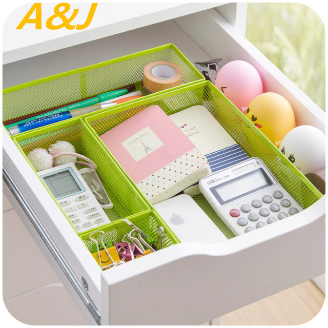 4pieces Set Storage Box Diy Organizer For Storing Cosmetics Free Combination School Office Supplies Container