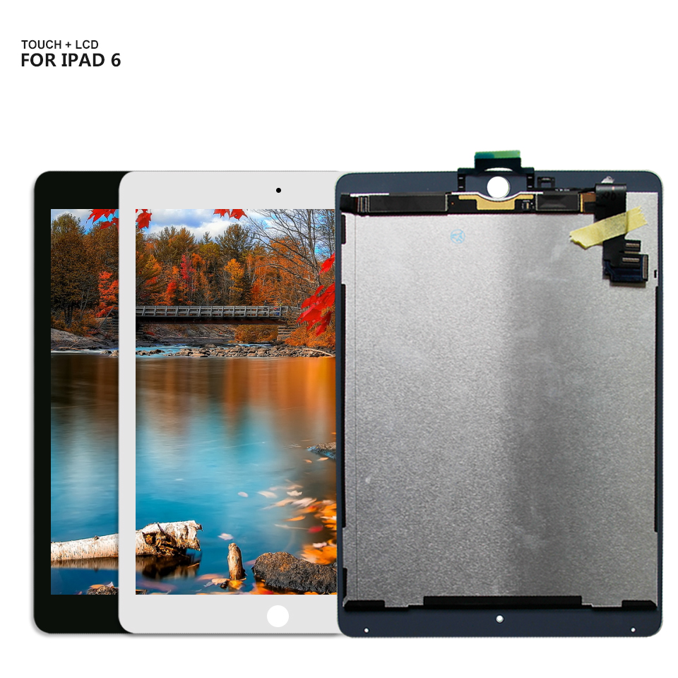 For iPad Air 2 ipad6 A1567 A1566 LCD Display Touch Screen Digitizer Assembly for iPad 6 5pcs lcd display digitizer touch screen assembly for ipad air 2 2nd gen a1566 a1567 replacement dhl free