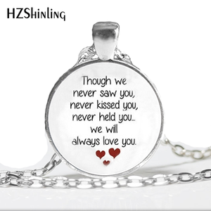 HZ--A403 New Miscarriage Keepsake Necklace Loss of Unborn Baby Jewelry Glass Dome Pendant Necklace HZ1(China)