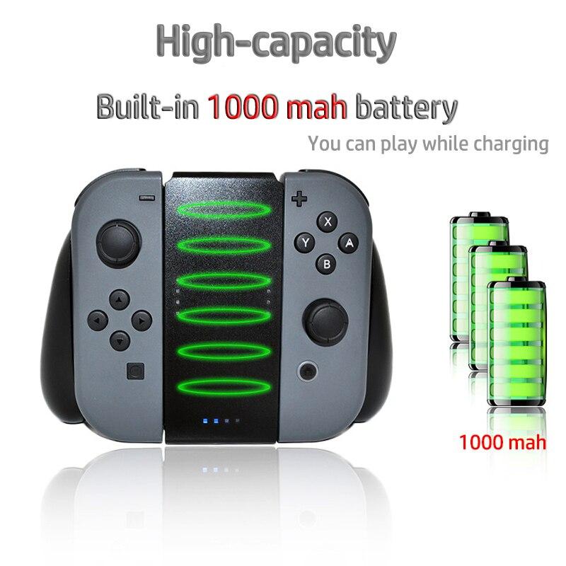7c74fda2df 1000 Mah Recarregável Bateria stand para Nintend Interruptor Alegria-Con NS  Power Bank 1000 mah Carregamento Aperto Estande Carregador com o cabo USB