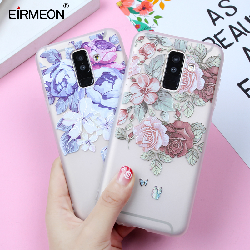 Case For Samsung Galaxy J4 J6 2018 EU Edition A5 2017 J2 J3 J5 J7 A3 A5 A7 2016 A8 A6 Plus 2018 S8 S7 Edge S9 Plus Flower Cases(China)
