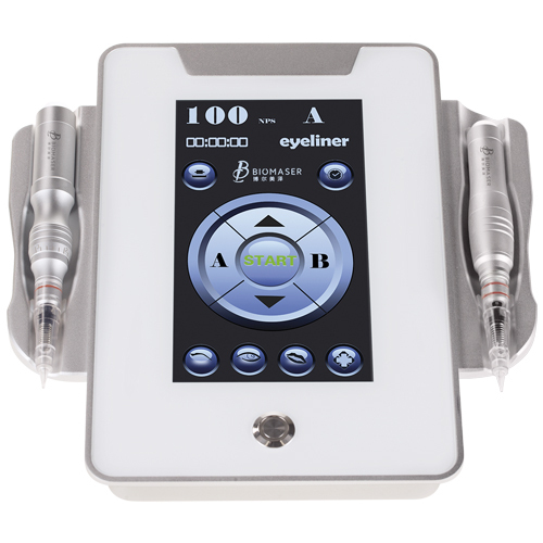 Biomaser Permanent makeup machine device kit digital newest design, with 7 inch. touch pad screen, 2 hand piece Foot pedal