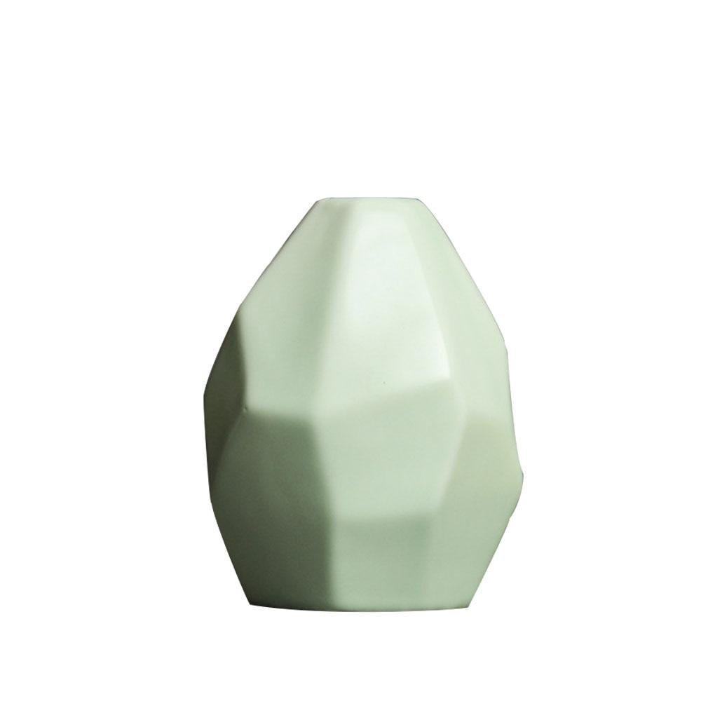 Керамическая ваза, сушеная ваза для цветов, украшение гостиной, сушеный цветочный контейнер, европейская ваза оригами, украшение стола - Цвет: green