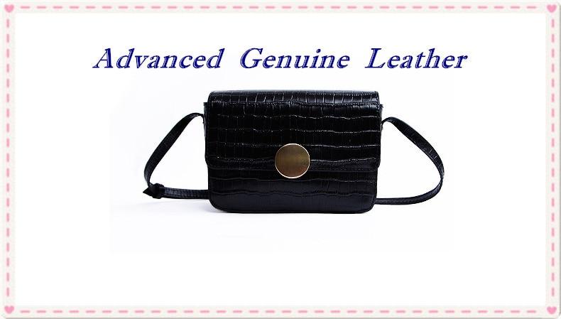 067. Alligator grain handbag Korean style new arrival mini square genuine leather shoulder bagladies Crossbody Dress Fashion