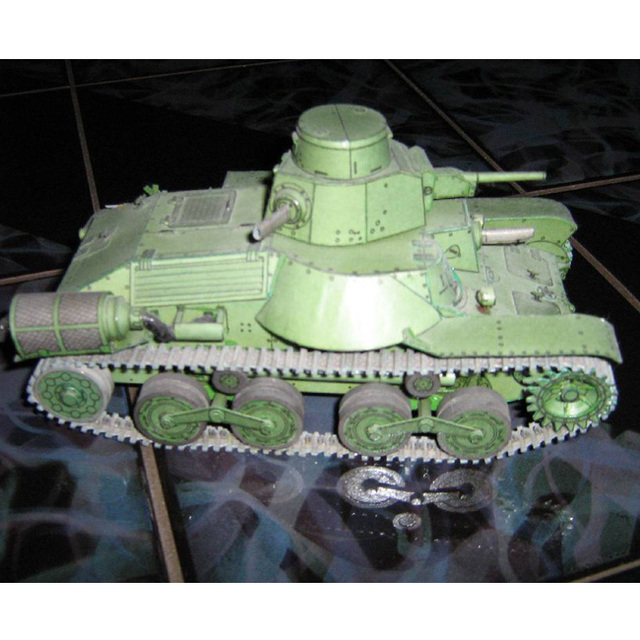 US $8 88 |Free shipping 3D Tank paper model 1:25 scale Japan HA GO 95 Light  Tank army military model handmade papercraft puzzles for adult-in Model