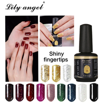 LiLy Angel Neon Colorido Nail Gel Polish 90 Colores Profesional Led UV Soak Off Gel Laca Nail Art Long Lasting Nail Liquid 90