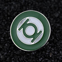 Hadiah Natal Green Lantern Besar Bros Pin Komik Superhero Green Enamel Lapel Pin Bros Emblem Lencana(China)