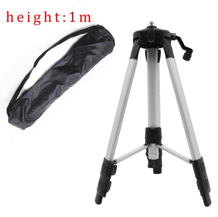 High Quality Portable 1 m Height Adjustable Aluminum Thickness Tripod 5/8 male thread tripod level laser high quality southern laser cast line instrument marking device 4lines ml313 the laser level