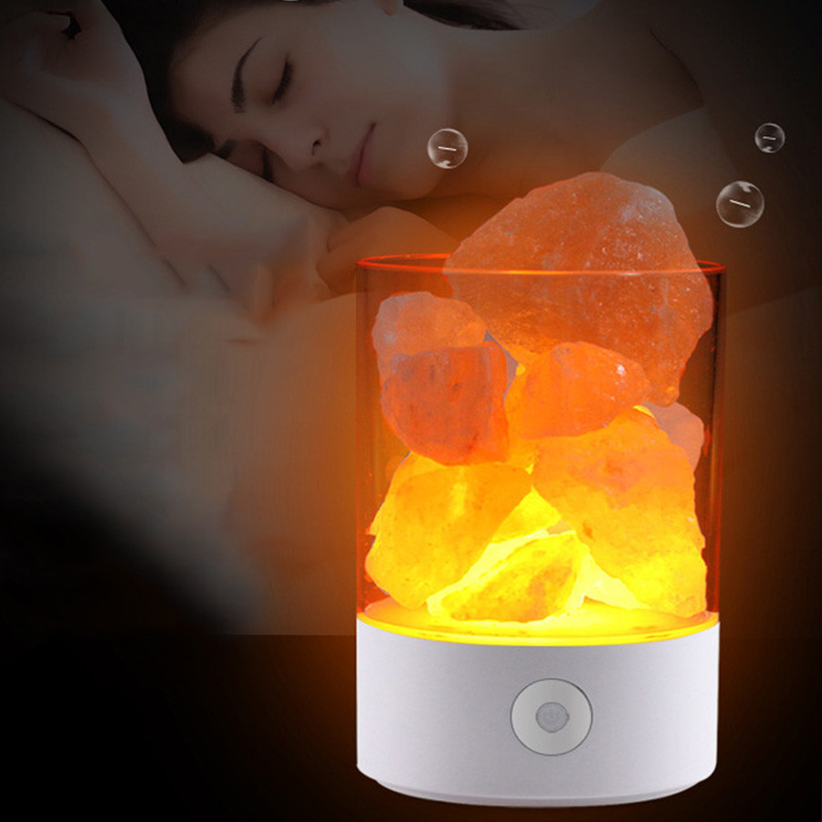BEIAIDI 7color USB Crystal Salt Night Light Touch Brightness Bedroom Night Light Lava Air Purifier Lamp For Home Hotel KTV Bar oygroup mini hand carved natural crystal himalayan salt lamp night light cylinder shaped illumilite lamp salt light oy17nl02