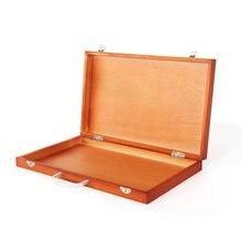 Boîte à chevalets de peinture en bois 37x23cm, grande boîte à chevalets de table pour artiste raffiné, boîte à dessin Portable, accessoires fournitures d'art pour artiste