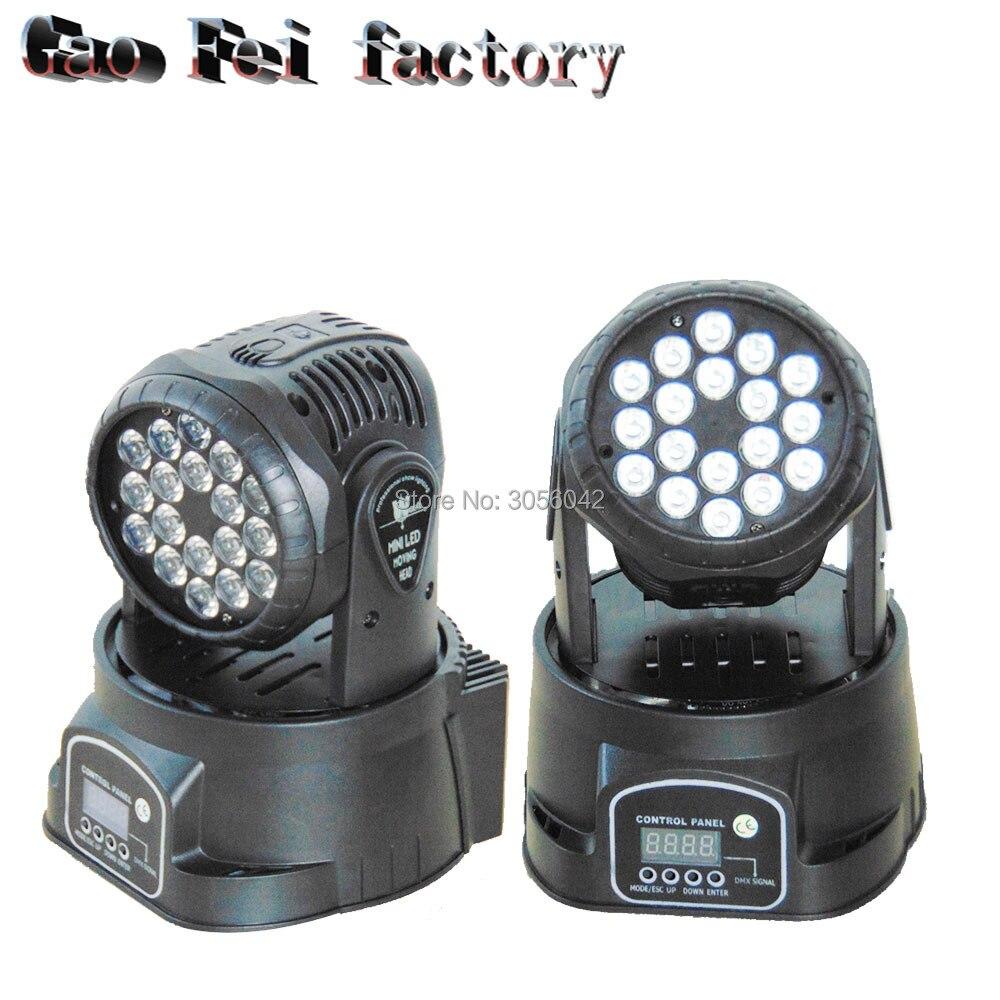 2pcs/lot LED Moving Heads Mini Wash 18x3w RGB with advanced Moving Head Light 2pcs lot mini tongue