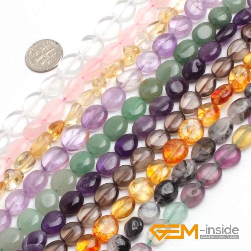 "8x10mm  Flat Oval Gemstone Cherry Quartz Beads 15.5 /"" Jewelry Making Beads"