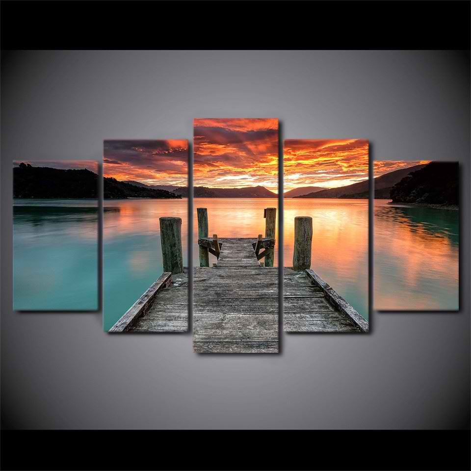 Home decor wall art canvas pictures living room poster for House decoration pieces
