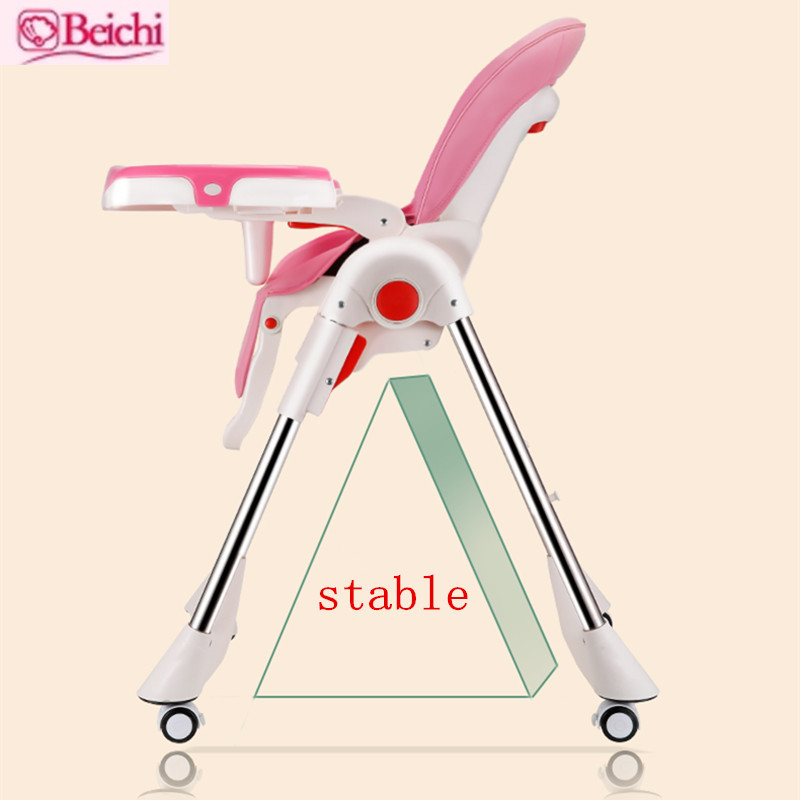Beichi baby dining chair child eating table multi-function portable folding highchair seat dinette baby dining chair multi function baby highchair