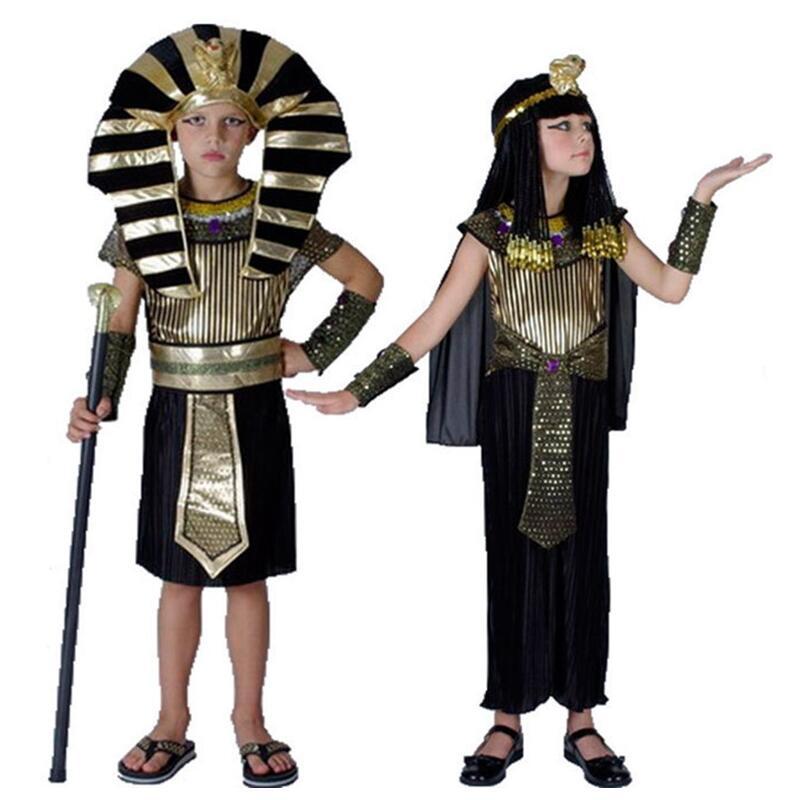 Agyptischen Pharao Kinder Kostume Neue Cosplay Maskerade Halloween
