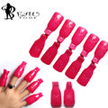 Beautome 10PC Durable Reusable Plastic Nail Polish Remover Lacquer Tool Soak Off Wrap Nail Cleaner Nail Clip Cap Remover Pink01