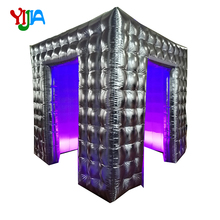 цены на Gold or Silver Cube  2.5m Inflatable Photo booth Cabin Tent with LED Strips lights and Air fan Portable Photo booth for Party  в интернет-магазинах