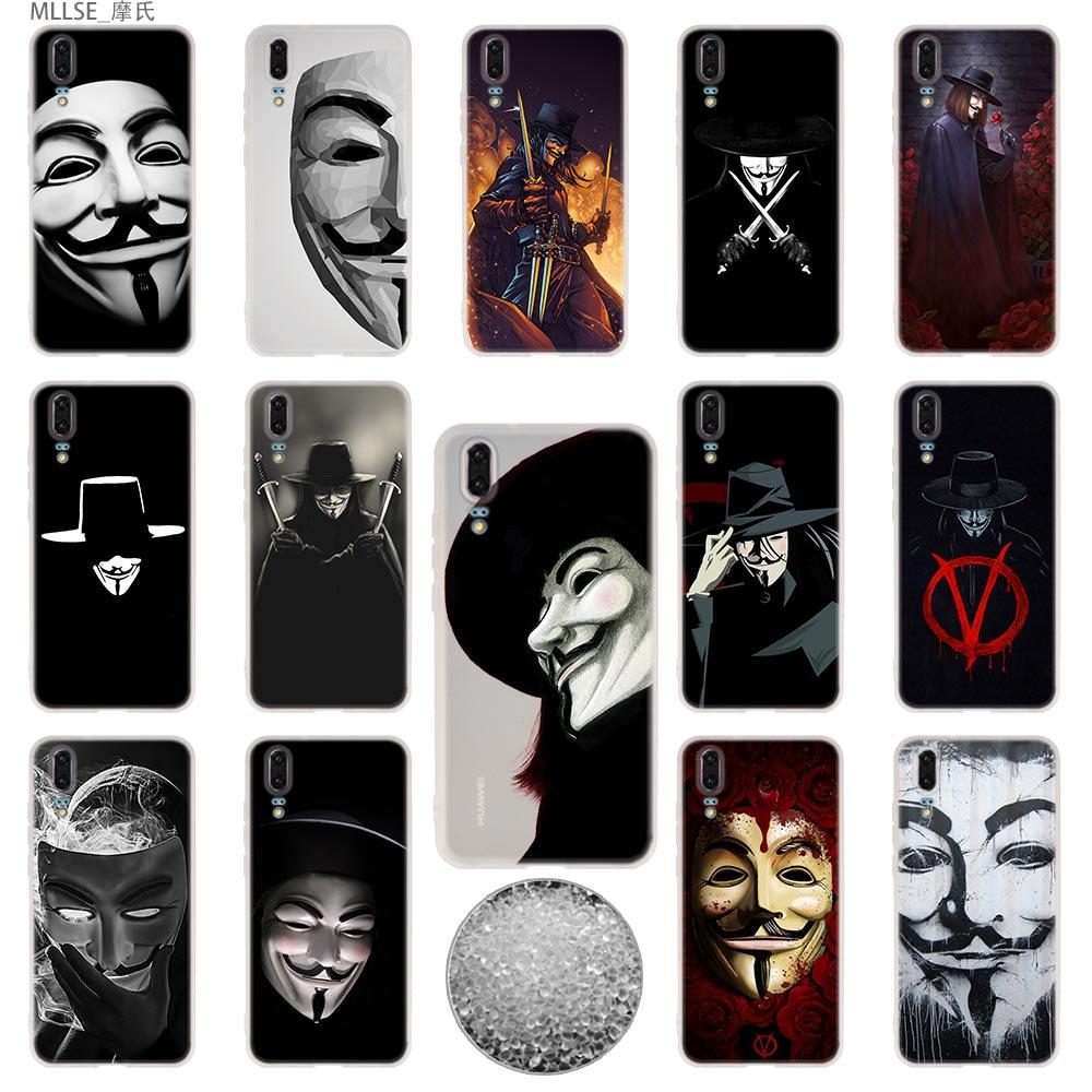 Goedkope Verkoop Tpu Cover Telefoon Gevallen Zachte Voor Huawei P 20 Pro P10 Plus P9 P8 Lite 2017 P30 Pro Samrt 2019 Nova 3e V Voor Vendetta Masker Rose Aromatisch Karakter En Aangename Smaak