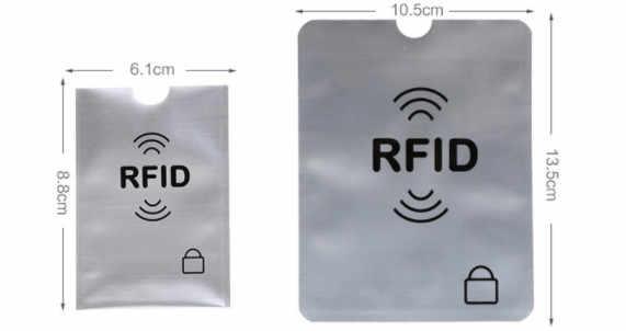 HJKL anti Rfid Wallet Blocking Reader  Lock Bank Card Holder Id Bank Card Case Protection Metal Credit Card Holder Aluminium bag