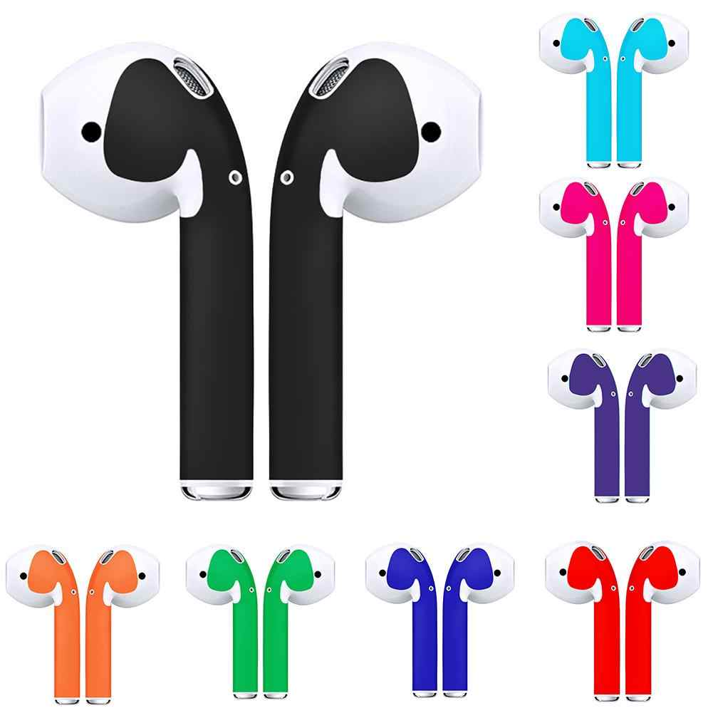 Solid Color Self-adhesive Anti-scratch Sticker Cover  for Apple AirPods Ear Buds