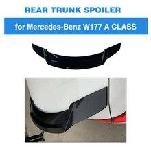 Задний спойлер для Mercedes-Benz A Class W177 A180 A200 ABS черный багажник губ