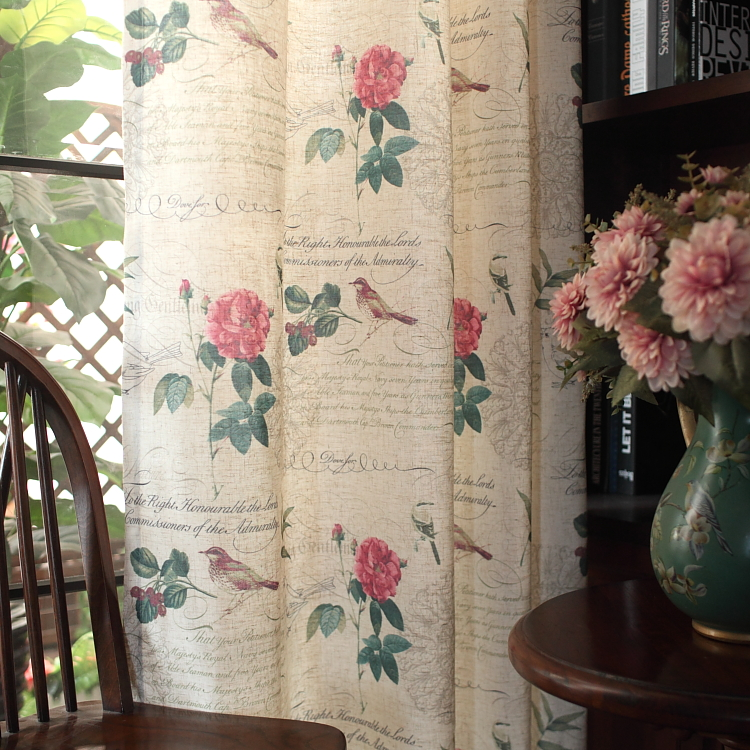 American Country Custom Cotton Printed Curtains for Bedroom Living Room  Floor Iris Shading Screens blinds. Compare Prices on Country Bedroom Curtains  Online Shopping Buy