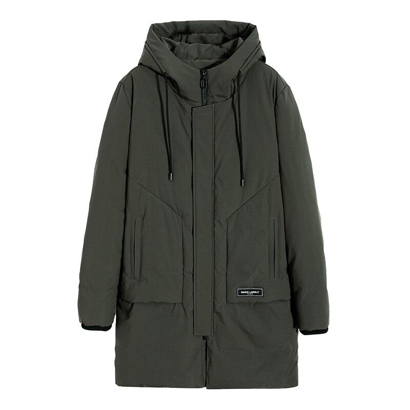 Пионерский лагерь Толстая теплая куртка мужская зимняя брендовая одежда с капюшоном зимняя куртка для мужчин Высокое качество парки мужск...