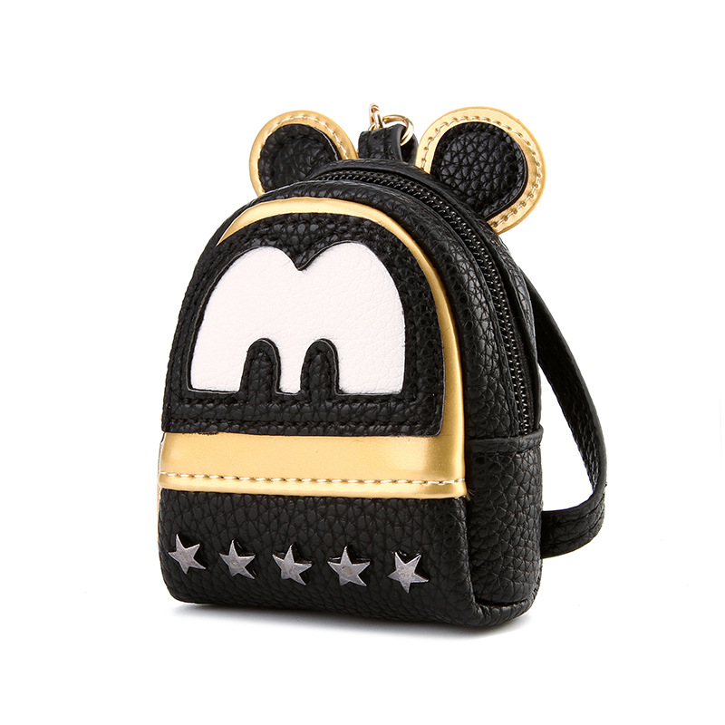 2017 Women Leather Backpacks Cartoon Mickey Ears Fashion Mini Casual Bags for School Students Teenagers Small Bags Sac a Dos