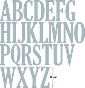 Image 2 - 10cm 4inches Large Alphabets A to Z  Whole set  Metal Cutting Dies Stencil Scrapbook Album Embossing For Gift Card Making