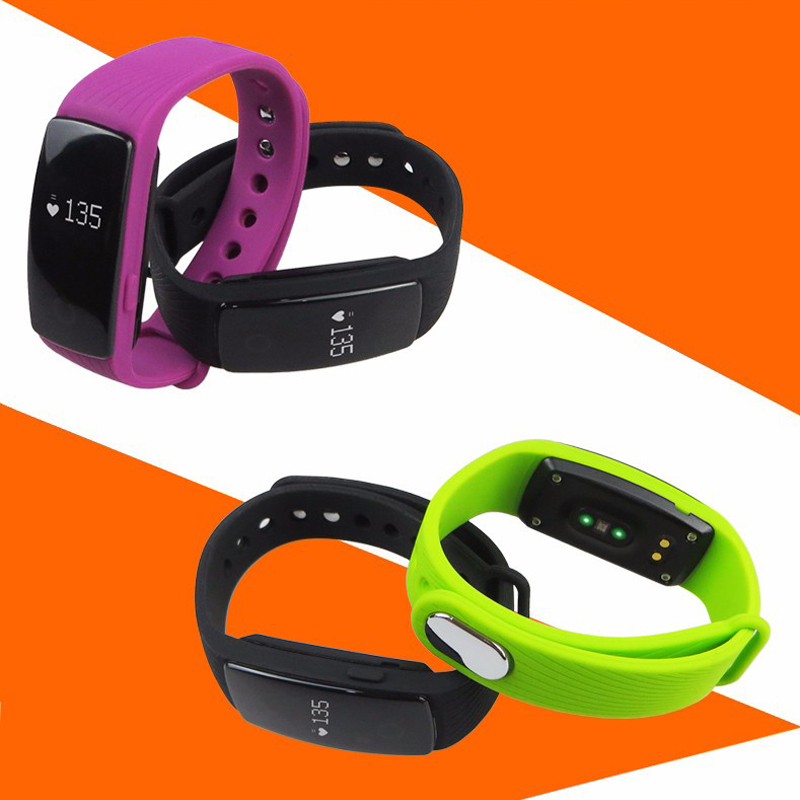 Original Fashion ID107 Bluetooth Smart Band With Heart Rate Monitor Pedometer Re