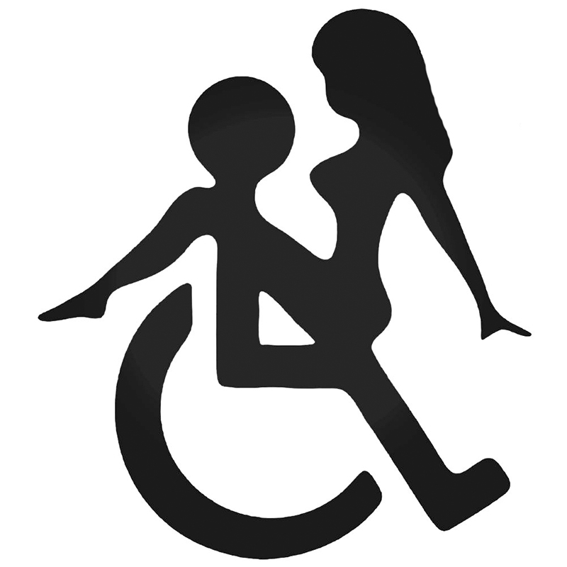 WHEELCHAIR SEX* Funny JDM Vinyl Decals Creative Car Stickers Suitable for Car Body Car Styling Accessories