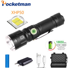 32000Lumens LED Flashlight xhp50 Ultra Bright Waterproof linterna led Torch xhp50 18650 Best Camping, Outdoor light(China)