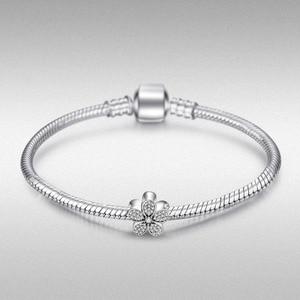 Image 3 - JewelryPalace Hoa Cúc Bạc 925 Hạt Charm Bạc 925 Nguyên Bản Cho Vòng Tay Bạc 925 Nguyên Bản Trang Sức Làm