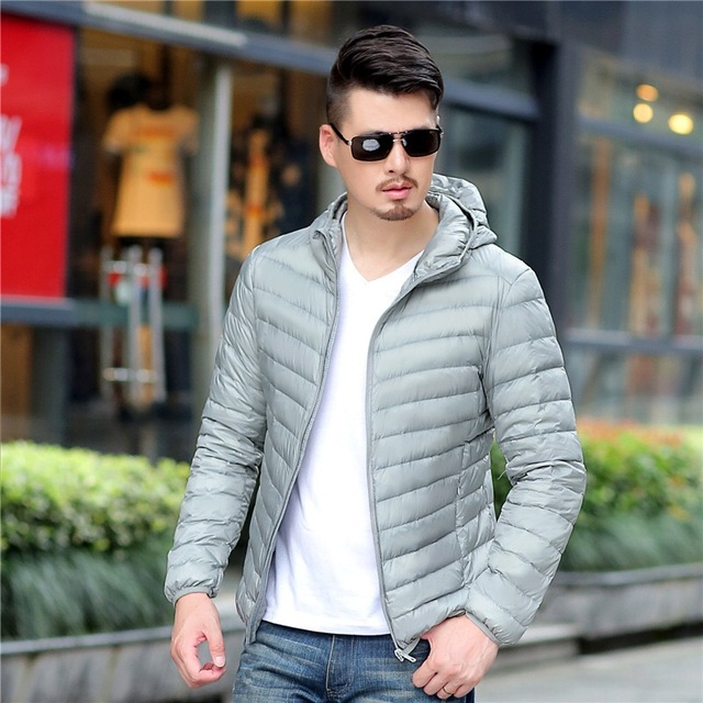 2018 New Casual Brand White Duck Down Jacket Men Autumn Winter Warm Coat Men's Ultralight Duck Down Jacket Male Windproof Parka