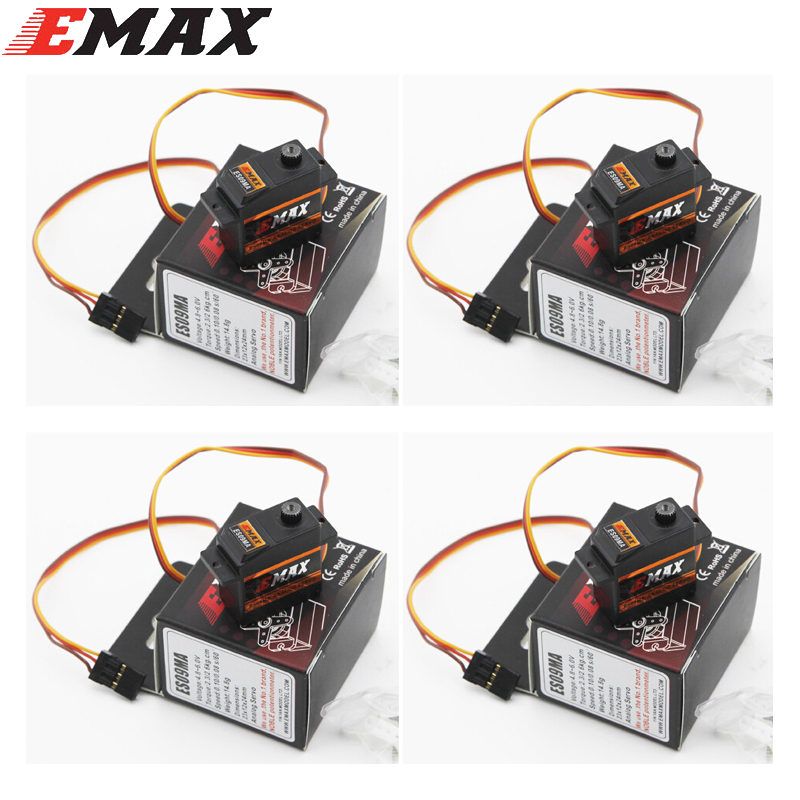 4pcs/lot EMAX ES09MA Metal Analog Specific Swash Servos For 450 Helicopter Tail Better Than Emax ES08MA