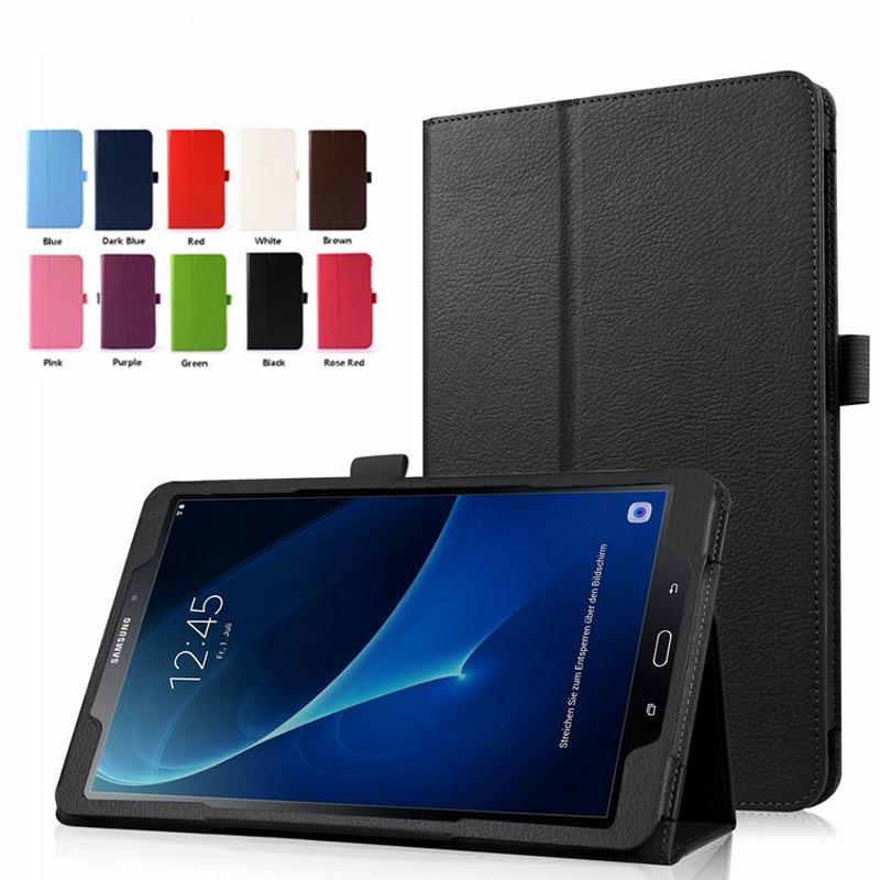 BLACK For Samsung GALAXY Tab A6 A 6 2016 PU Leather Case For 10.1 Inch SM-T580 SM-T585 Stand Cover For 7.0 Inch SM-T280 SM-T285