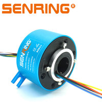 Through Hole Slip Ring 25.4mm Inner Diameter 86mm OD Size 2/3/4/6 Wires 2A/5A/10A Current Routing Hydraulic Or Pneumatic
