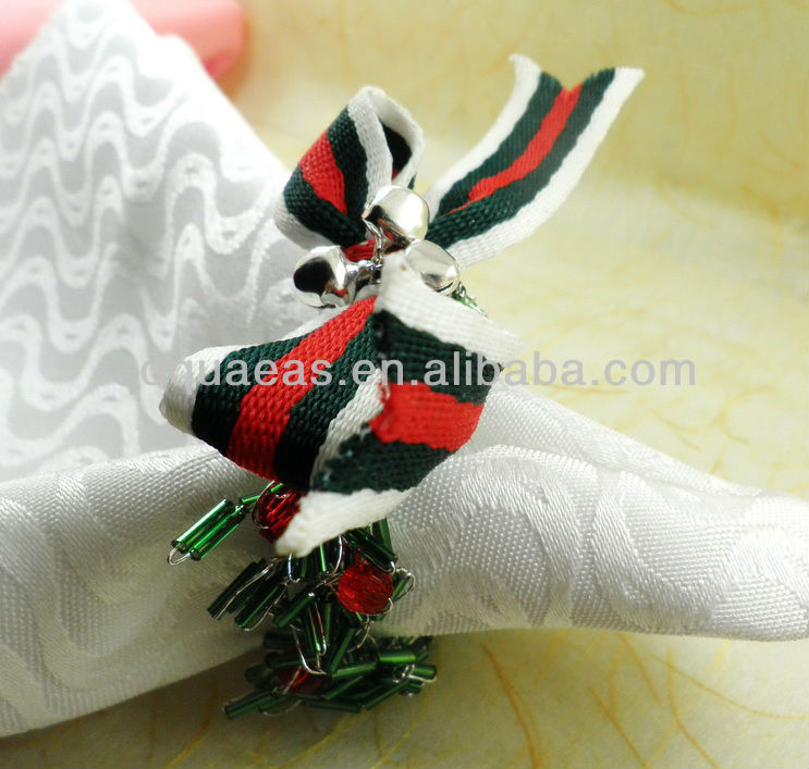 beaded wedding  napkin ring, napkin holder, decoration napkin ring