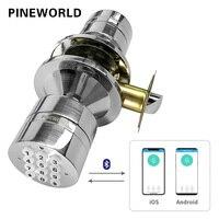 PINEWORLD электронный замок, Smart Bluetooth цифровые приложения код на клавишной панели Дистанционный Замок без ключа, пароль Дистанционный Замок без...