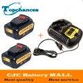2 unids Alta Calidad 20 V 4000 mAh Herramientas Eléctricas Baterías Inalámbrico Reemplazo para Dewalt DCB181 DCB182 DCD780 DCD785 DCD795 + cargador