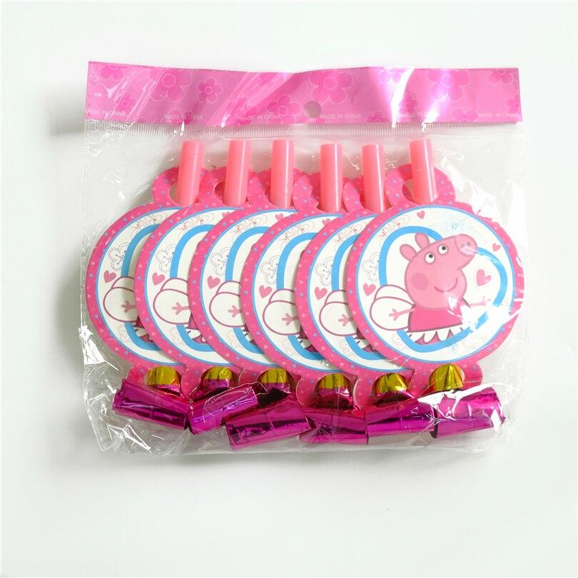 6 шт./лот выброса розовый поросенок детский день рождения питания события партии праздничные украшения Создание шума