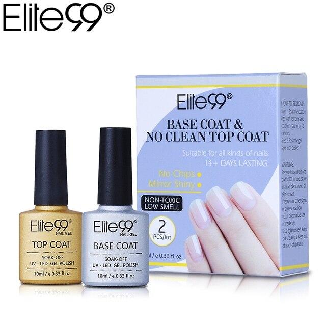 Elite99 Basis und Kein Sauberes Top Mantel Gel Nagellack UV 10 ml Transparent Soak Off Primer Gel Polnischen Gel lack Nail art Maniküre